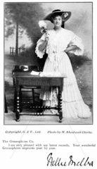 Dame Nellie Melba  Australian opera singer  early 20th century.