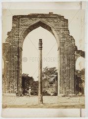 'Iron Pillar  Delhi'  c.1865.