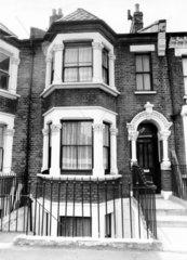Three-storey house  Chelsea  London  August 1979.