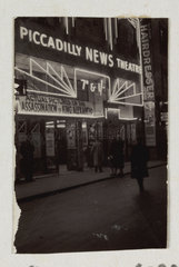 Piccadilly News Theatre  Great Windmill Street  London  1934.