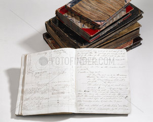Notebooks of Charles Babbage  English computing pioneer  1830s.