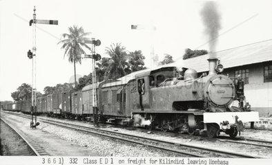 Class ED1 locomotive  Mombasa  Kenya  1941.