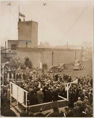 NCB flag raised at Cinder Hill Pit  1947.