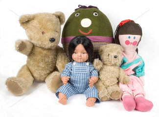 Toys from BBC TV's 'Play School'  c 1980s.