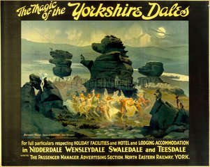 'The Magic of the Yorkshire Dales'  NER poster  1914.