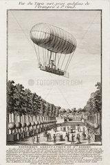 'Robert's Aerostatic Experience'  15 July 1784.