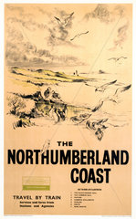 'The Northumberland Coast'  BR (NER) poster  1961.