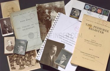 Papers and photographs of the Beck microscope manufacturers  1883-1989.