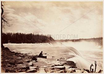 'General view Niagara Falls'  1860.