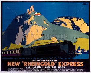 'New Rheingold Express'  LNER poster  1935.
