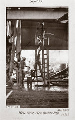 'Well No 22  View inside rig'  24th November  1915.