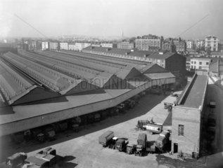 Paddington Station goods depot  London  March 1938.