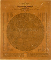 Small map of the Moon  Berlin  Germany  1837.
