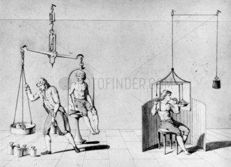 Antoine Lavoisier's experiments  c late 18th century.