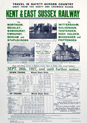 'Kent & East Sussex Railway'  Kent & East Sussex Railway poster  1927.