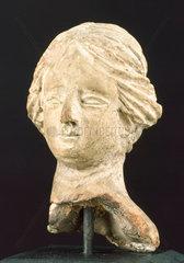 Terracotta head  Greece  200 BC-1 BC.