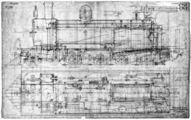 Western Australian Government Railways 3ft 6in gauge 2-8-0 locomotive 1896.