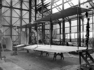 Cody Aeroplane No1  wing section under construction  1908.