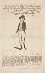 The improved pedometer or waywiser  c 18th century.