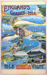 'England's Garden Isle'  Isle of Wight Railways poster  c 1910.