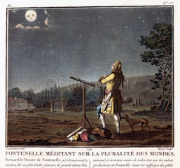 'Fontenelle Meditating on the Plurality of Worlds'  c 1700.