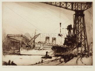 'The Basin  Dalmuir'  Glasgow  Scotland  c 1924.