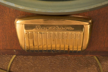 Detail of a Raytheon M-1601 television receiver  1950.