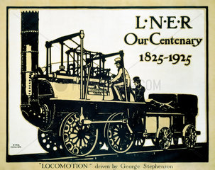 'Our Centenary  1825-1925'  LNER poster  1925.