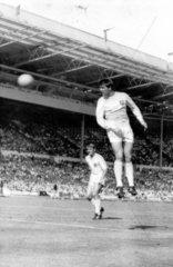 Geoff Hurst scores  World Cup  July 1966.