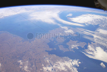 Denmark from space  February 26  2003.