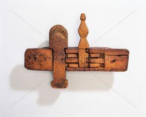 Scottish traditional wooden lock  1740-1760.