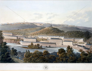 'The Town of Lanark'  Scotland  1824-1825.