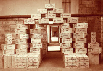 Crates of absinthe ready for export  1899.