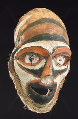 Mask made from a human skull  New Britain  Papua New Guinea  1801-1910.