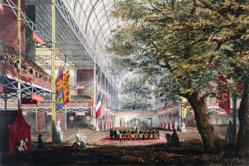 The closing ceremony of the Great Exhibition  Crystal Palace  London  1851.