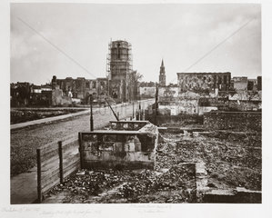 Meeting Street  Charleston  S Carolina  after the great fire of 1861  (1861-1867).