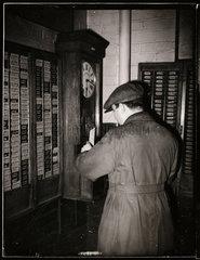 Clocking on  1949.