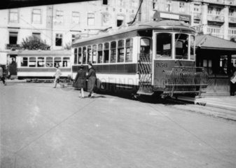 Single deck tramcar  Lisbon  Portugal  1932