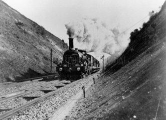 The Great Western Railway 4-2-2 steam locom