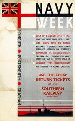 Navy Week  SR poster  1937.