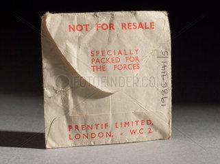 'Prentif' Servispak condom  1935-1965.