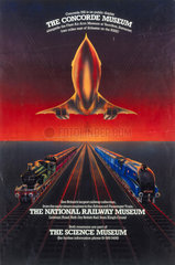 'Visit the Science Museum on location'  poster c 1980s.