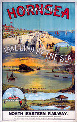 'Hornsea  Yorkshire - Lakeland by the Sea'  NER poster  c 1910s.