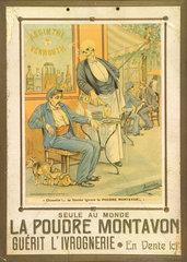 La Poudre Montavon  anti-drunkenness powder  c 1900.
