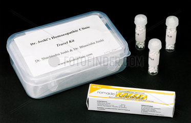 Homeopathic 'travel kit'  India  2005.