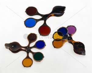 Three sets of Claude Lorraine glasses  1800-1824.
