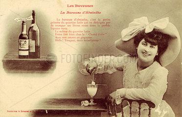 'La Buveuse d'Absinthe'  c 1900.