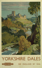 'Yorkshire Dales'  BR poster  1948-1965.