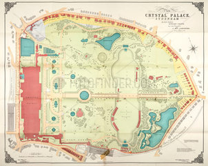 Plan of the Crystal Palace and grounds  Sydenham  1911.