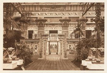 Egyptian interior  the Crystal Palace  Sydenham  London  1911.